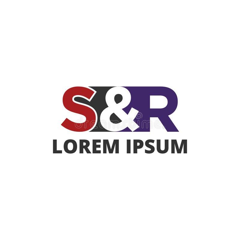 Wektorowy ilustracyjny listowy s i r ikona logo projekta ilustracji