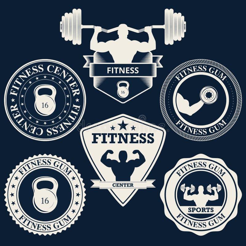 Wektorowy ilustracyjny logo sprawności fizycznej centrum ilustracji