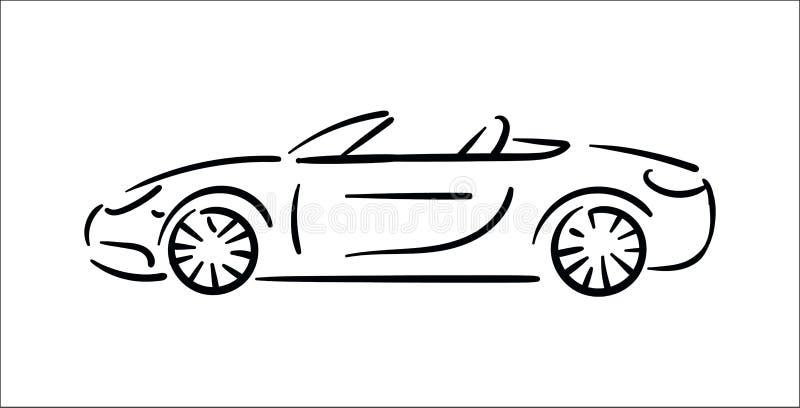 Wektorowy ilustracyjny pojęcie Samochodowa ikony ilustracja na białym tle ilustracja wektor