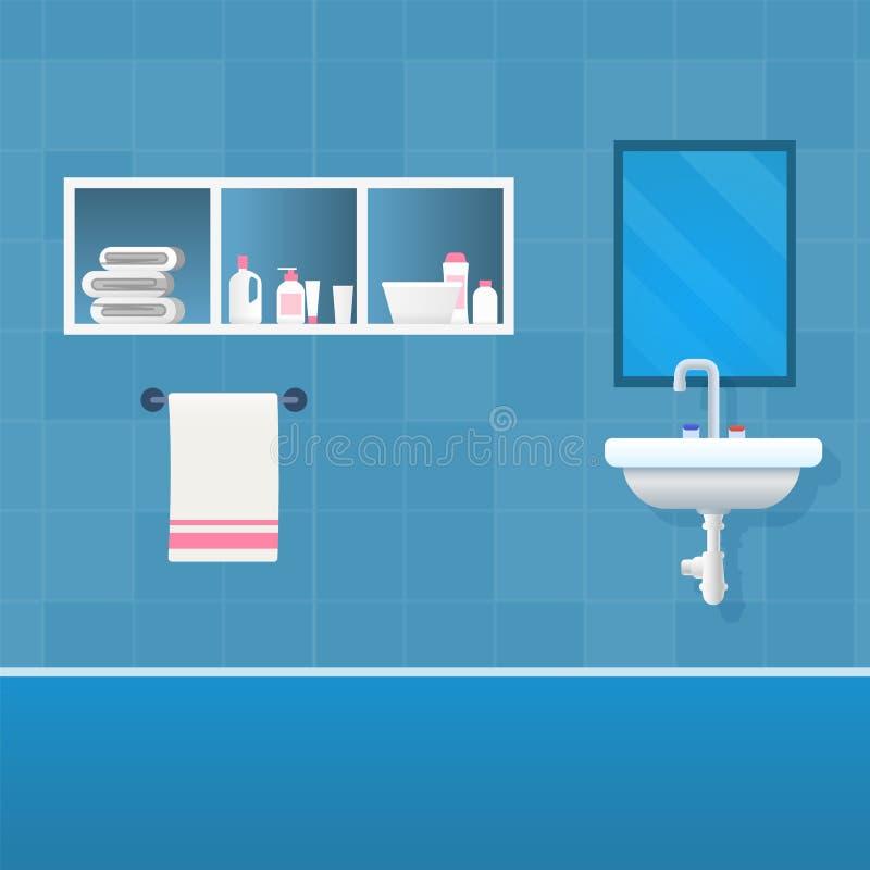 Wektorowy Ilustracyjny pojęcie łazienki wnętrze royalty ilustracja