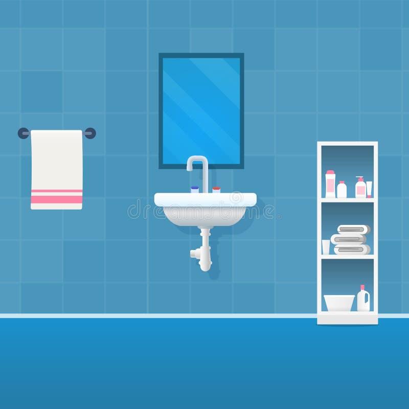 Wektorowy Ilustracyjny pojęcie łazienki wnętrze ilustracji
