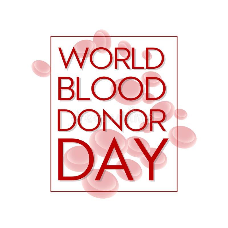 Wektorowy ilustracyjny pojęcie sztandar dla Światowego krwionośnego dawcy dnia royalty ilustracja