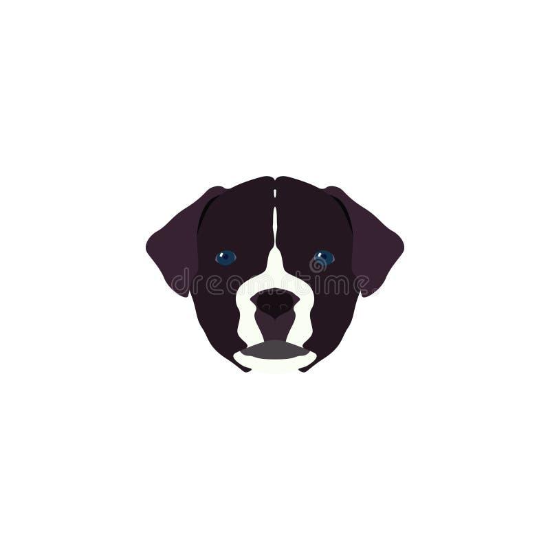 Wektorowy Ilustracyjny portret mastif royalty ilustracja