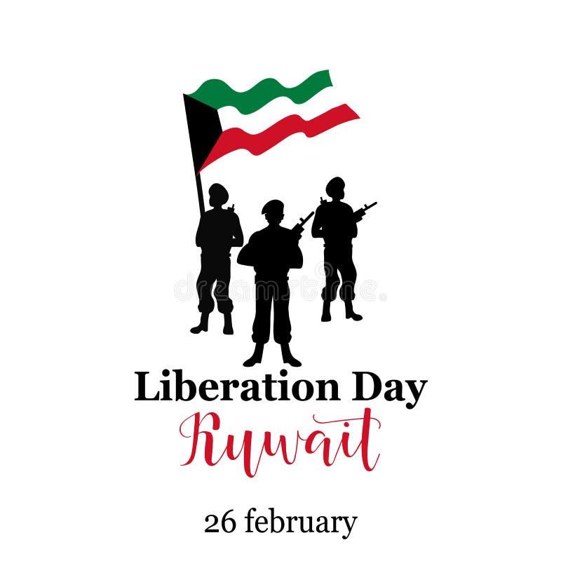 Wektorowy Ilustracyjny projekta szablon Luty 26 - dzień wyzwolenie Kuwejt ilustracja wektor