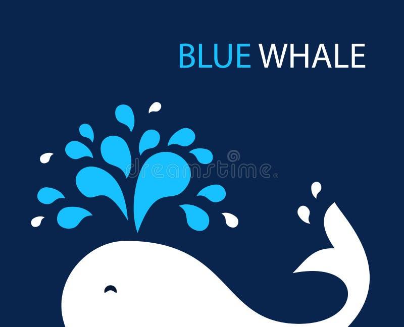 Wektorowy ilustracyjny wieloryb ilustracja wektor