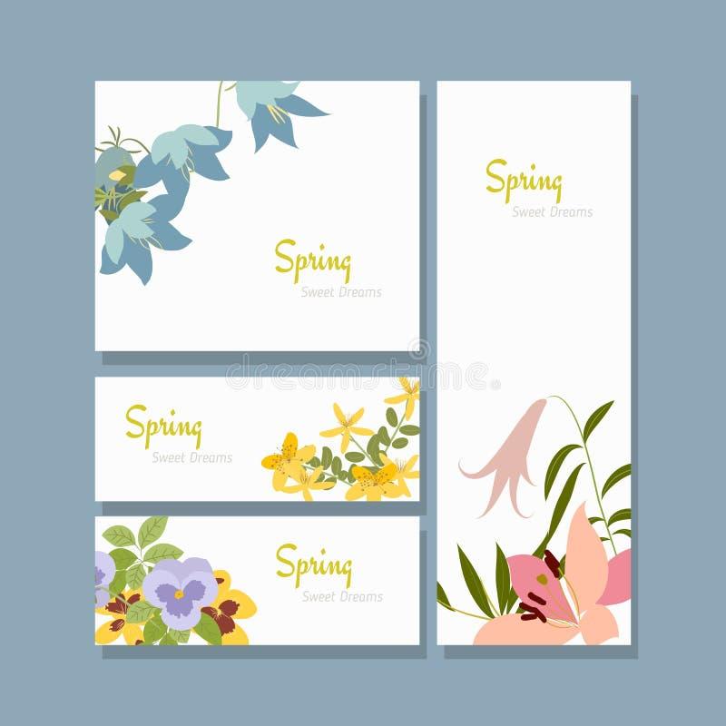 Wektorowy ilustracyjny wiosna kwiat ilustracji
