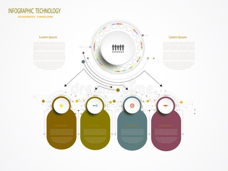 Wektorowy infographic biznesowego projekta szablon ilustracja wektor