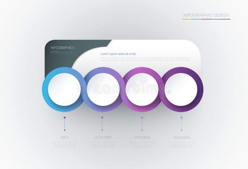 Wektorowy Infographic 3d okręgu etykietki szablonu projekt ilustracja wektor