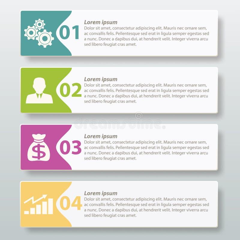 Wektorowy Infographic etykietki szablonu projekt ilustracji