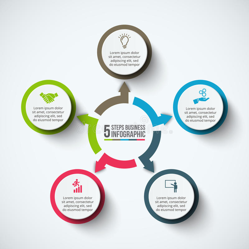Wektorowy infographic projekta szablon royalty ilustracja