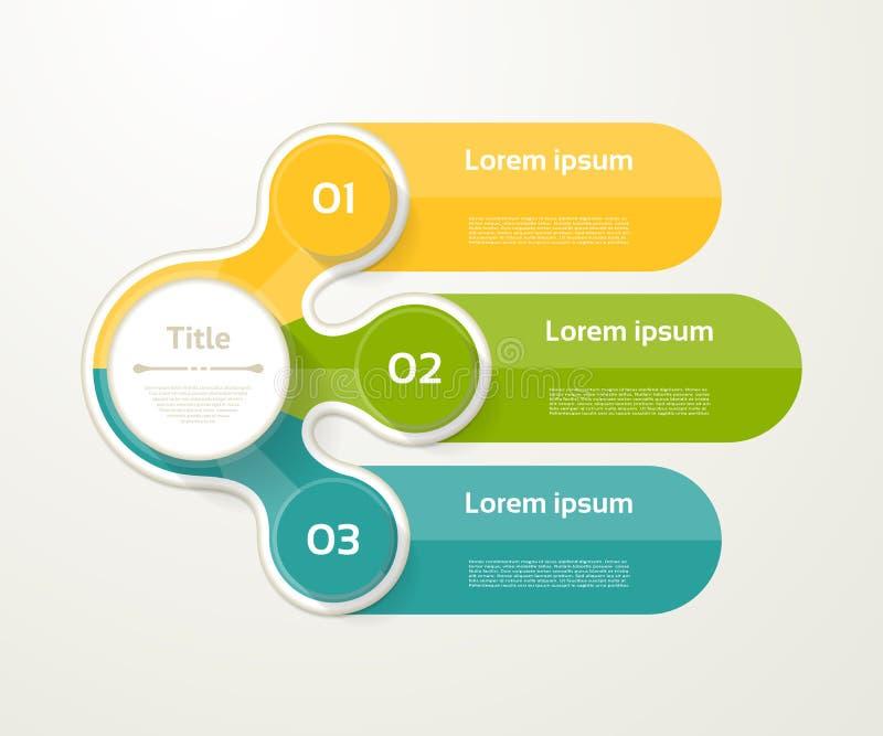 Wektorowy infographic szablon dla diagrama, wykres, prezentacja ilustracja wektor