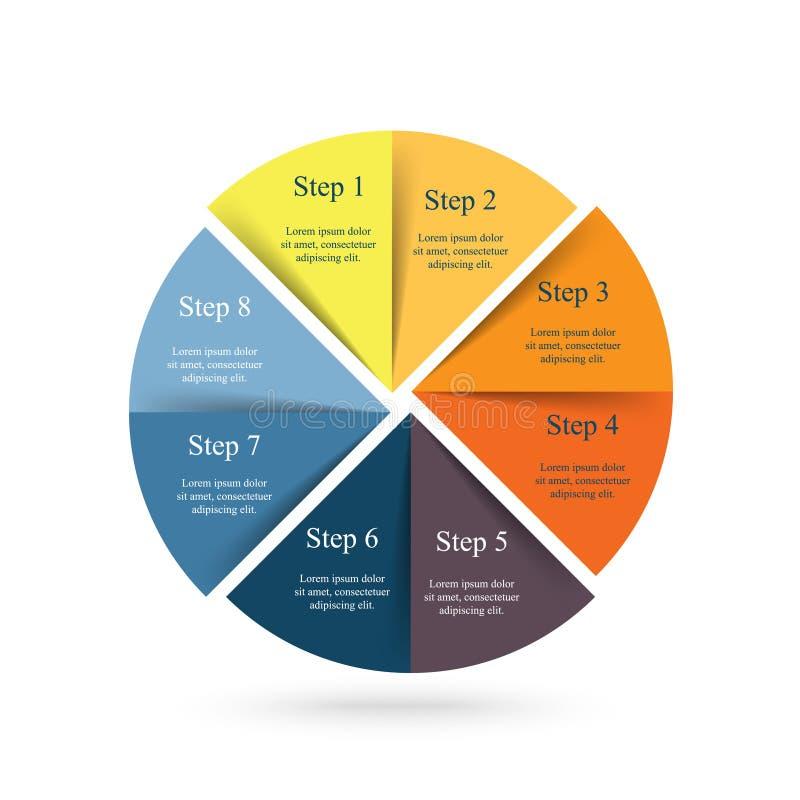 Wektorowy infographic szablon ilustracja wektor