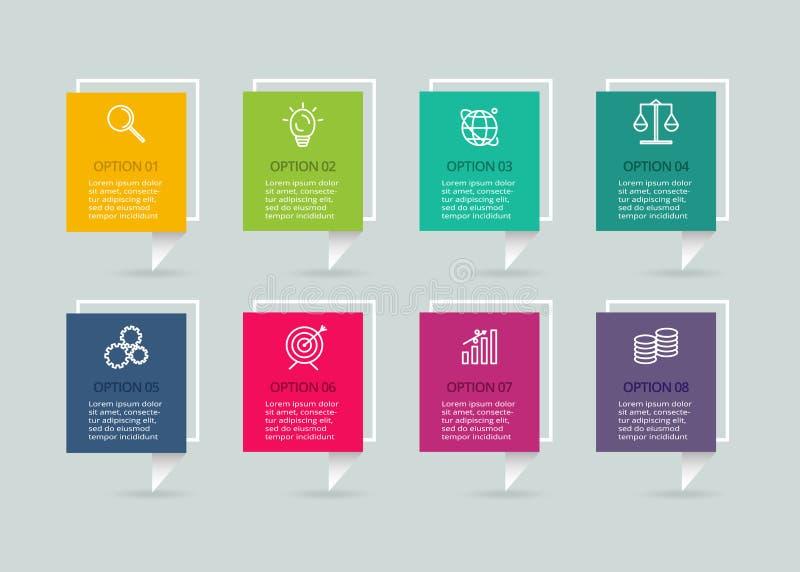 Wektorowy infographic szablon z 3D papieru etykietk? Biznesowy poj?cie z 4 opcjami Dla diagrama, kroki, cz??ci, mapa ilustracja wektor