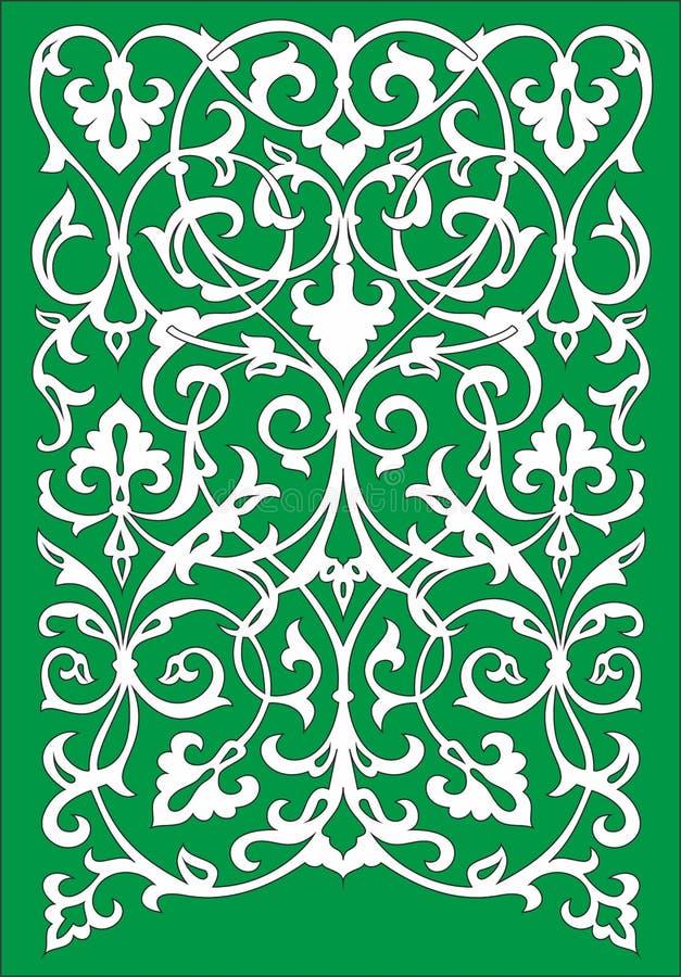 Wektorowy islamski kwiecisty deseniowy motyw ilustracja wektor