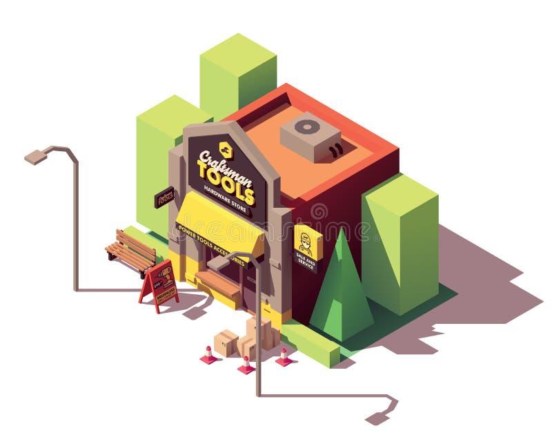 Wektorowy isometric narzędzia sklep ilustracji