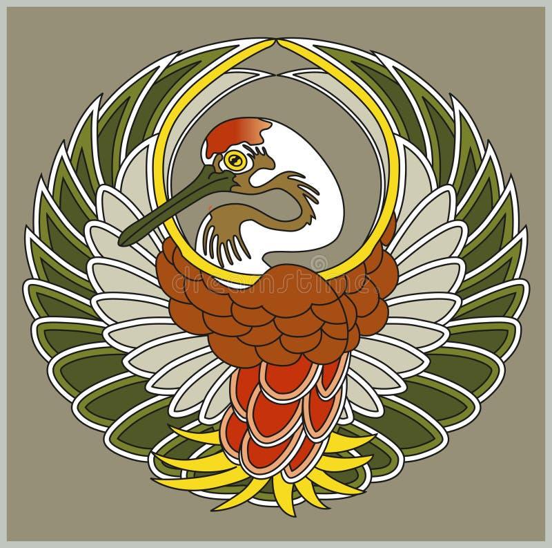 Wektorowy Japończyka żurawia Symbol Zdjęcie Stock