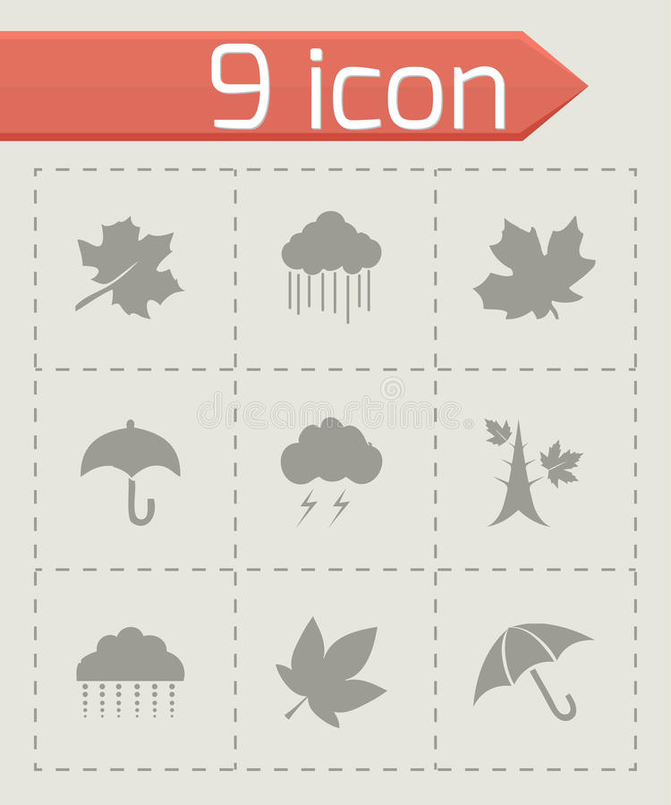 Wektorowy jesieni ikony set ilustracja wektor