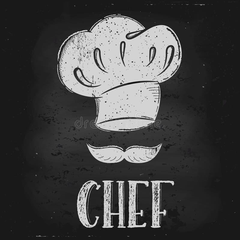 Wektorowy kapeluszowy szef kuchni ilustracja wektor