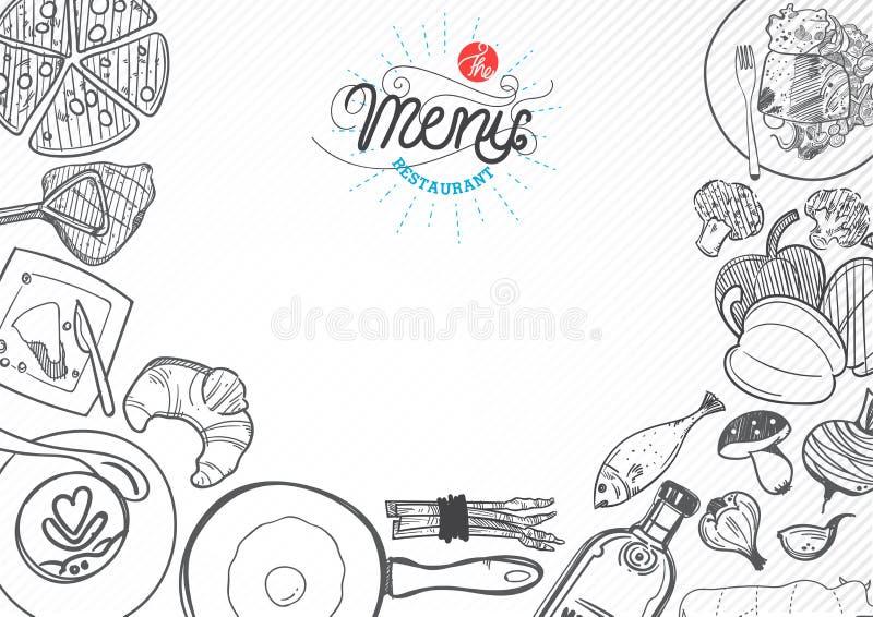 Wektorowy karmowy projekta szablon ilustracja wektor
