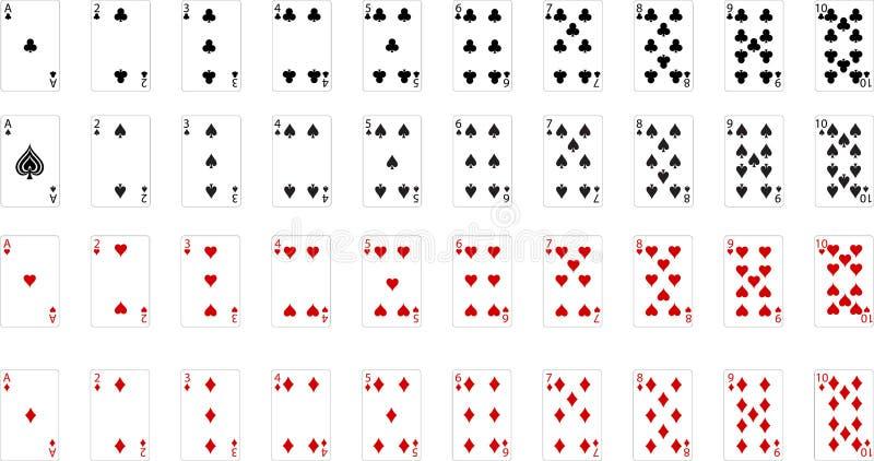 Wektorowy karta do gry royalty ilustracja