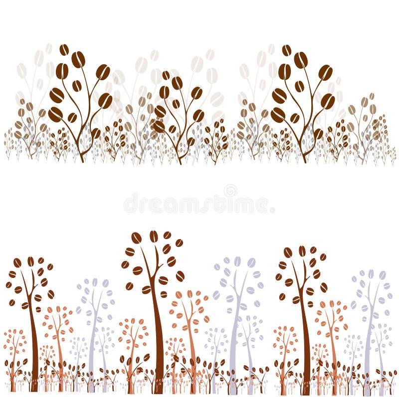 wektorowy kawowy drzewo ilustracja wektor