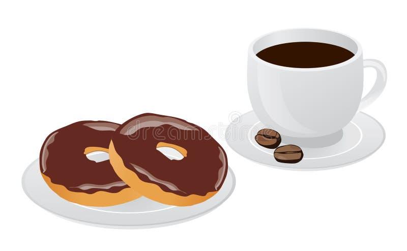 Wektorowy kawowy pączek ilustracji