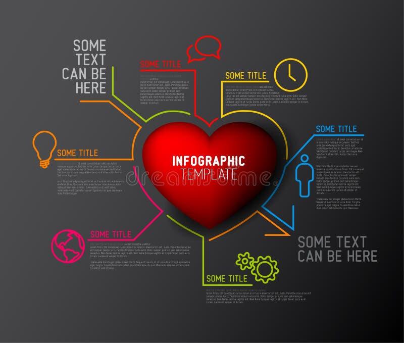 Wektorowy Kierowy Infographic raportu szablon ilustracji