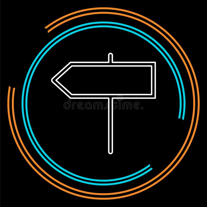 Wektorowy kierunku znak - uliczny drogowy kierunkowy ilustracja wektor