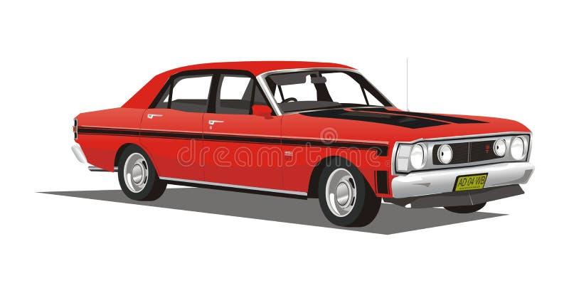 Wektorowy klasyczny czarny samochód ilustracji