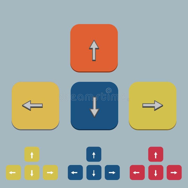 Download Wektorowy Klawiaturowy Strzałkowaty Ustawiający Na Szarość Ilustracja Wektor - Ilustracja złożonej z kolor, puszek: 57674813