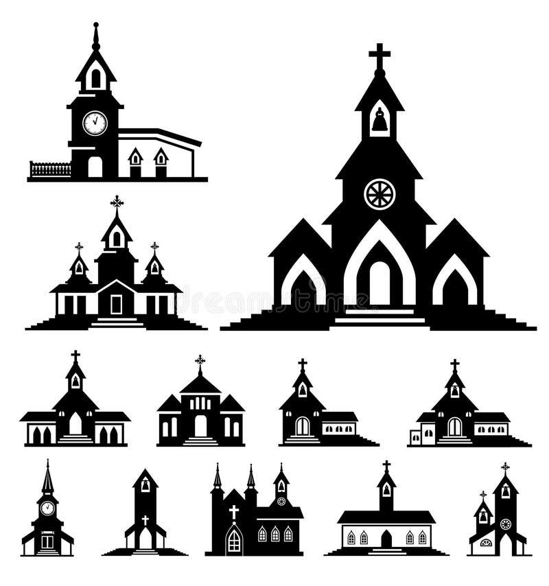 Wektorowy kościół royalty ilustracja