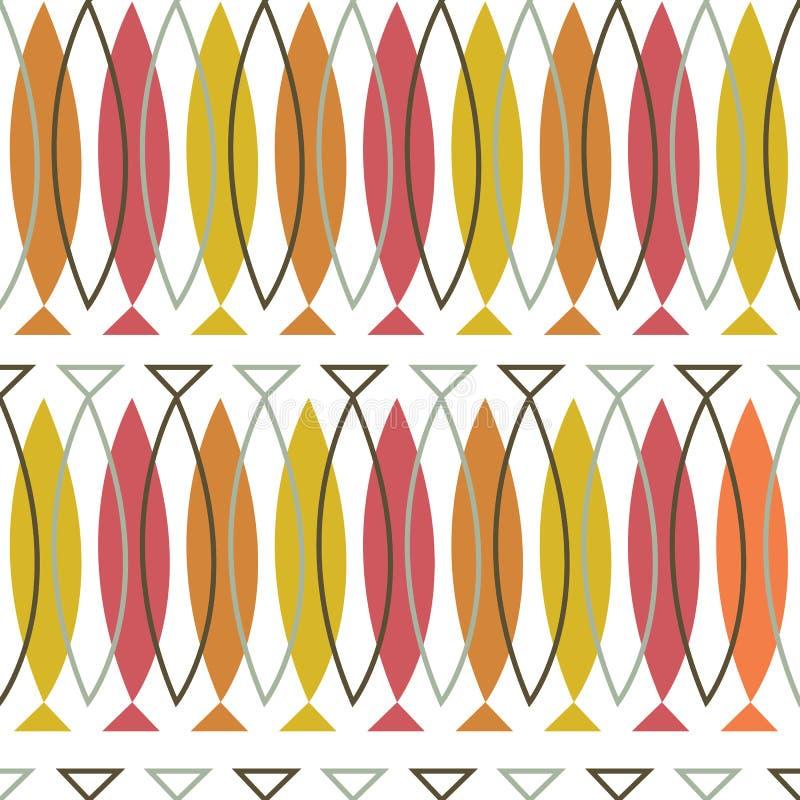 Wektorowy kolorowy abstrakcjonistyczny geometryczny bezszwowy deseniowy tło royalty ilustracja