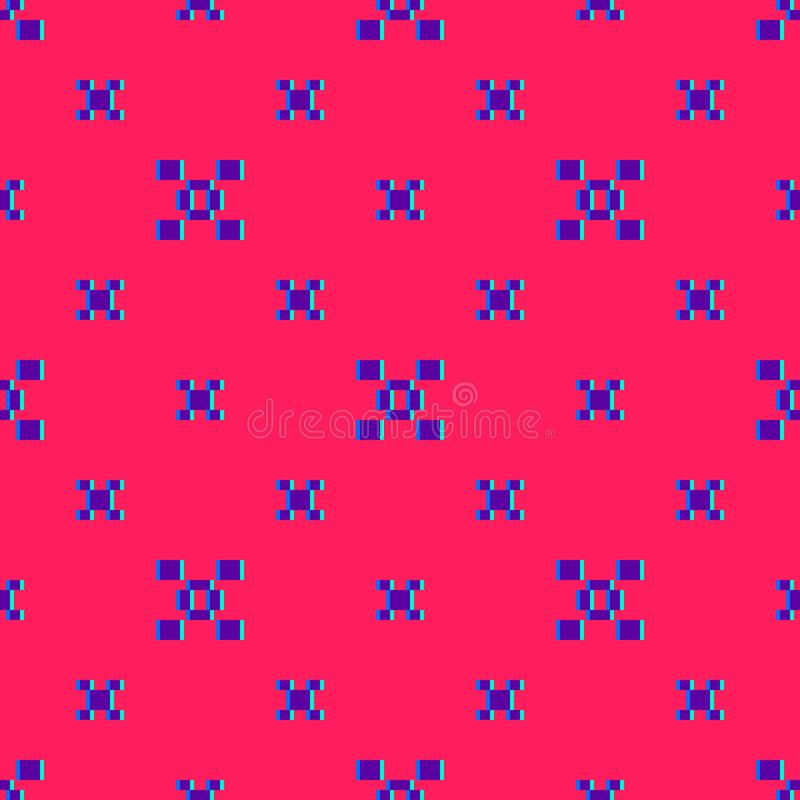 Wektorowy kolorowy abstrakcjonistyczny minimalny geometryczny bezszwowy wzór z małymi kwadratami ilustracja wektor