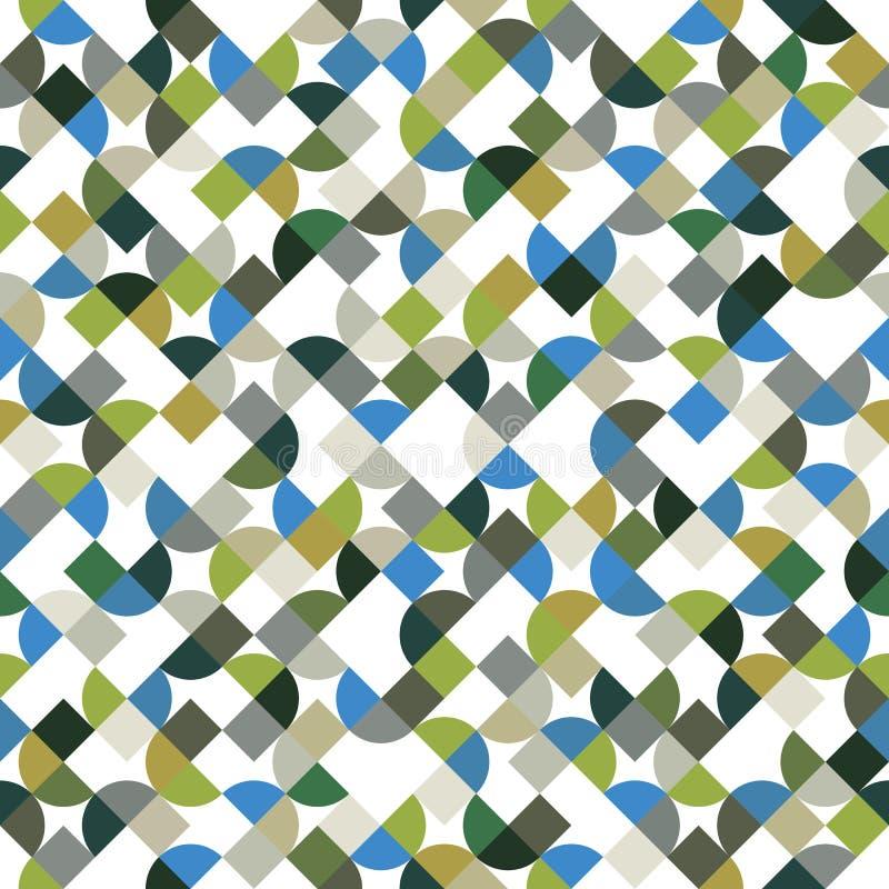 Wektorowy kolorowy geometryczny tło, jaskrawy abstrakcjonistyczny bezszwowy p ilustracji
