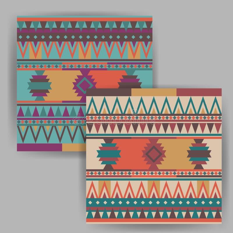 Wektorowy Kolorowy Indiański Bezszwowy wzór obrazy stock