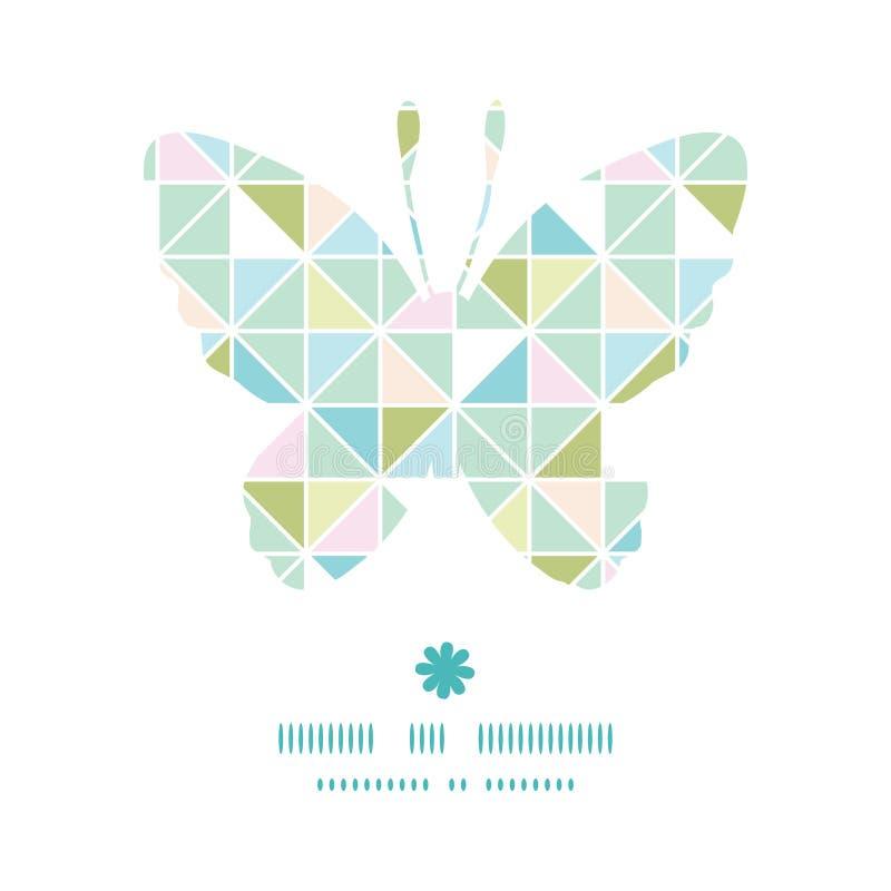 Wektorowy kolorowy pastelowy trójbok tekstury motyl ilustracja wektor