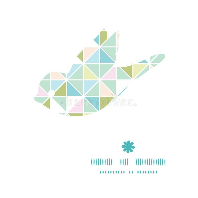 Wektorowy kolorowy pastelowy trójbok tekstury ptak ilustracja wektor