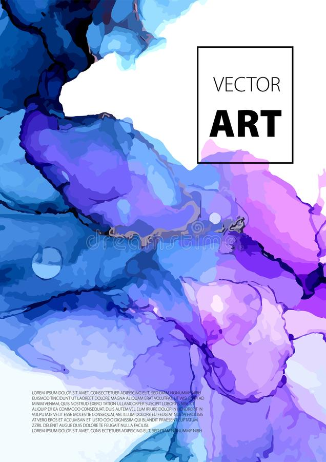 Wektorowy Kolorowy pokrywa projekt ustawiający z teksturami Zbliżenie obraz Abstrakcjonistyczna jaskrawa ręka malujący tło ilustracji