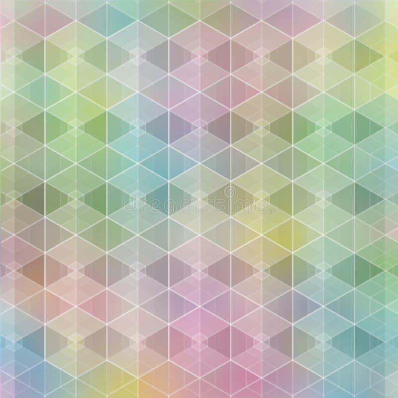 Wektorowy kolorowy tło z poligonalnym zamazanym wzorem ilustracji
