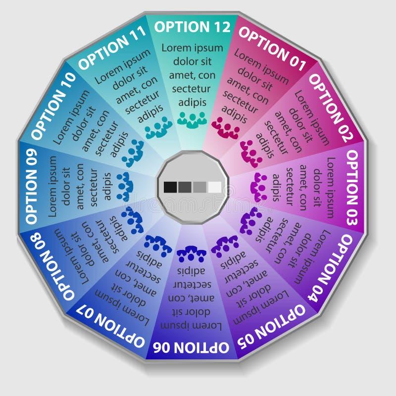Wektorowy koloru infographics Szablony dla diagrama, wykresu, prezentaci i round mapy, Biznesowego rozpoczęcia pojęcie ilustracja wektor