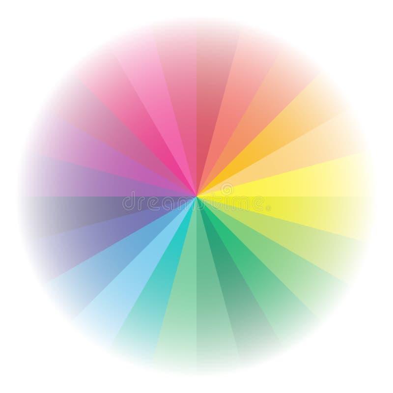 Wektorowy koloru widma tło ilustracji