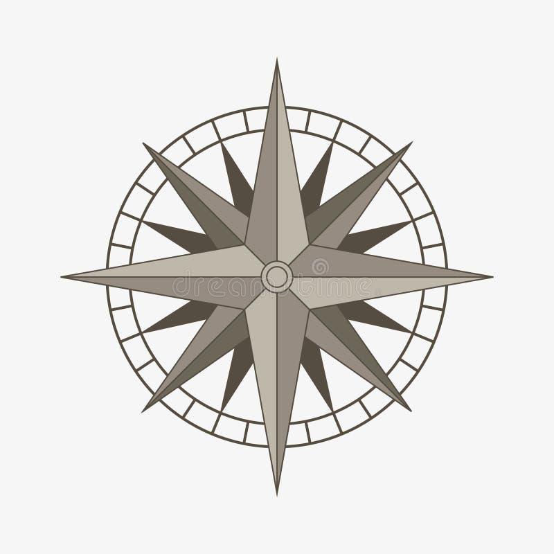 Wektorowy kompas wzrastał ilustracji