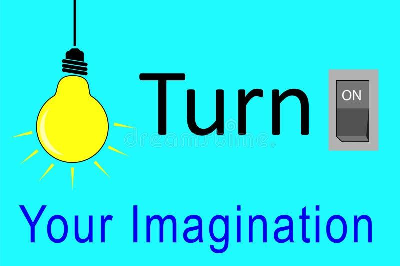 Wektorowy konceptualny, Obraca Dalej Twój wyobraźnię ilustracji