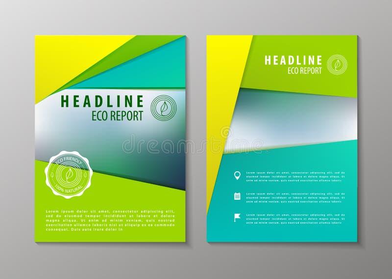 Wektorowy korporacyjny broszurki ulotki projekta układu szablon w A4 ilustracji