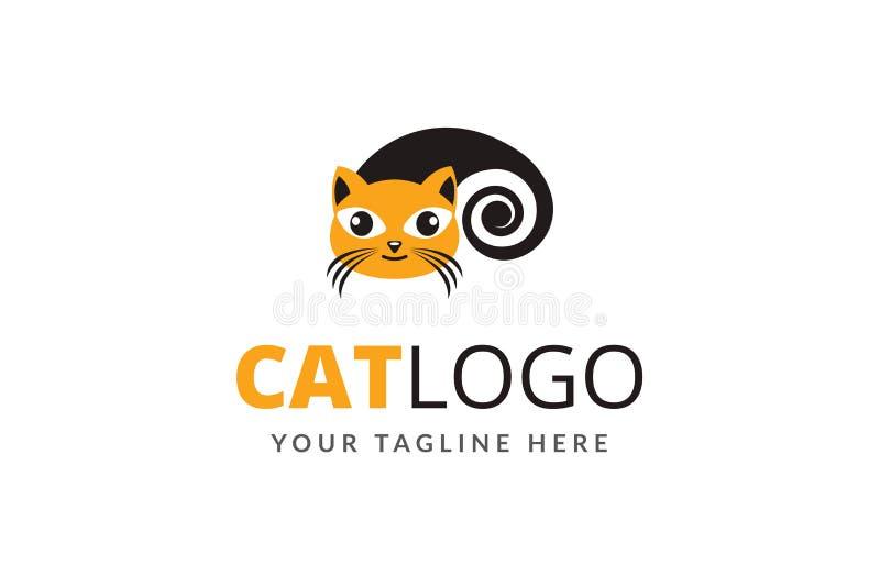 Wektorowy kota loga projekta szablon fotografia royalty free