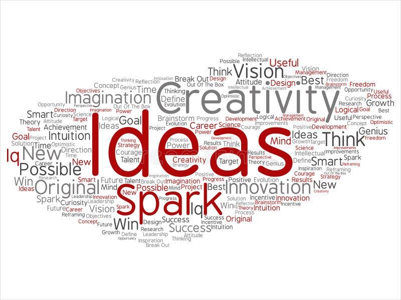 Wektorowy kreatywnie nowy pomysł brainstorming abstrakt ilustracja wektor