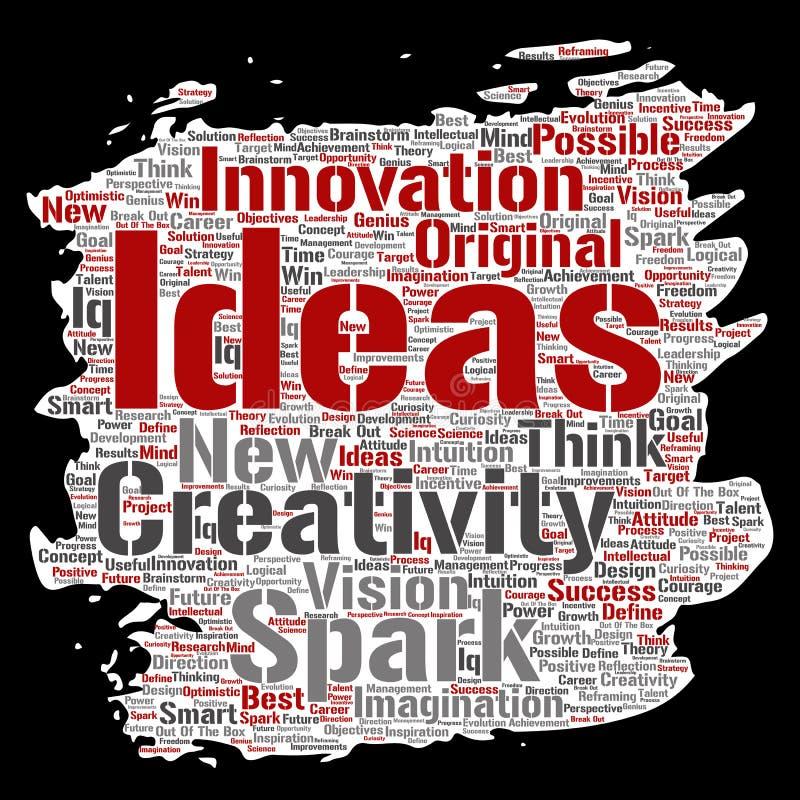 Wektorowy kreatywnie pomys? brainstorming farby mu?ni?cia papier royalty ilustracja