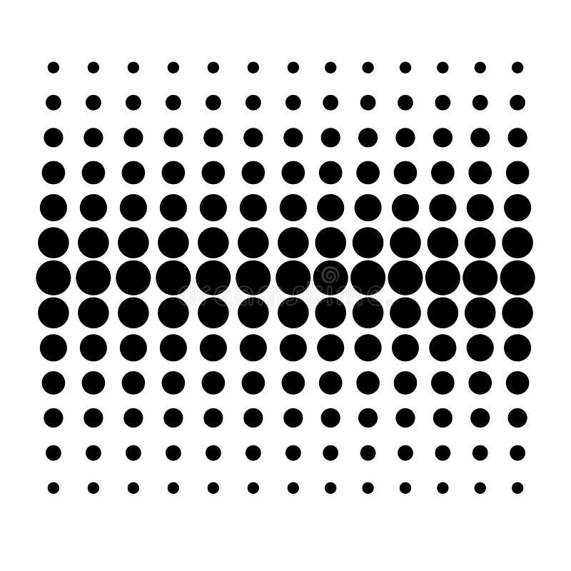 Wektorowy kropka wzór na Białym tle ilustracja wektor
