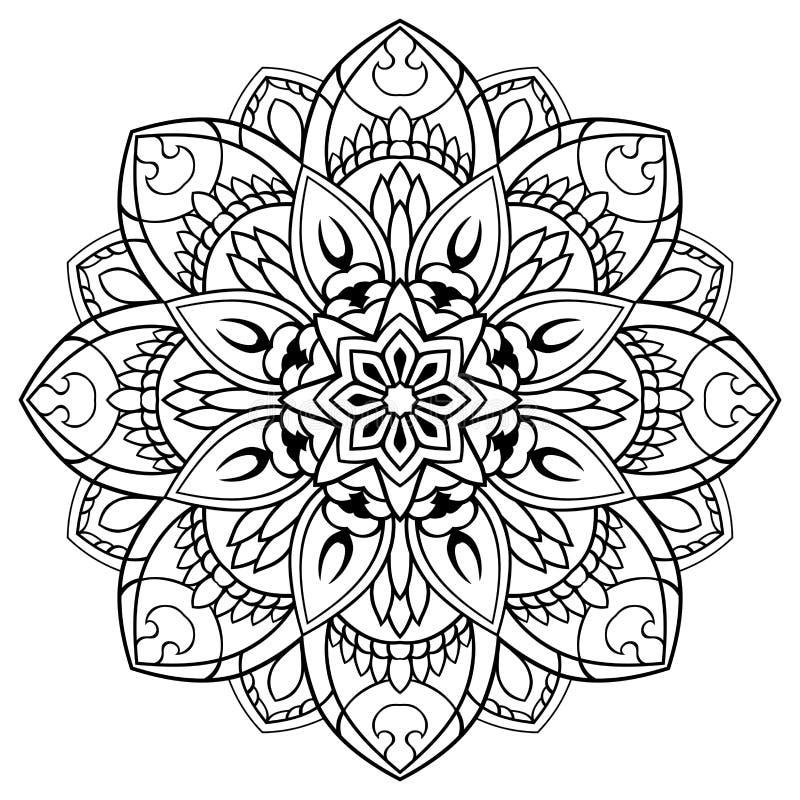 Wektorowy kwiecisty mandala royalty ilustracja