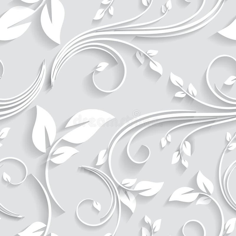 Wektorowy Kwiecisty Wiktoriański Bezszwowy tła zaproszenie, ślub, Papierowych kart Dekoracyjny wzór royalty ilustracja